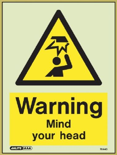 (7044) Jalite Warning Mind your head sign